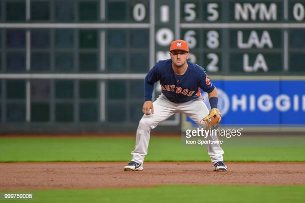 Houston Astros infielder Alex Bregman prepares for the pitch during the baseball game between the Detroit Tigers and the Houston Astros on July 15...