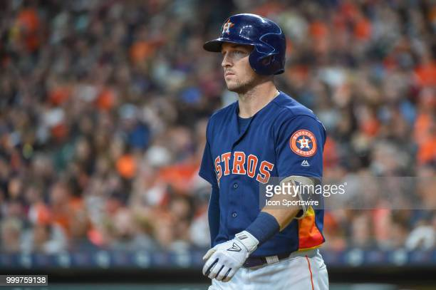 Houston Astros infielder Alex Bregman prepares to hit during the baseball game between the Detroit Tigers and the Houston Astros on July 15 2018 at...