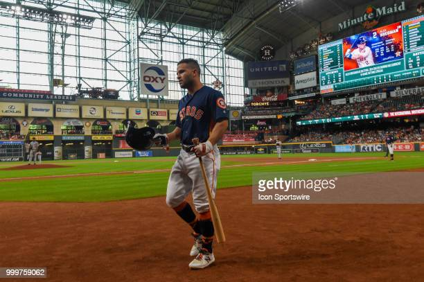 Houston Astros infielder Jose Altuve prepares to hit during the baseball game between the Detroit Tigers and the Houston Astros on July 15 2018 at...