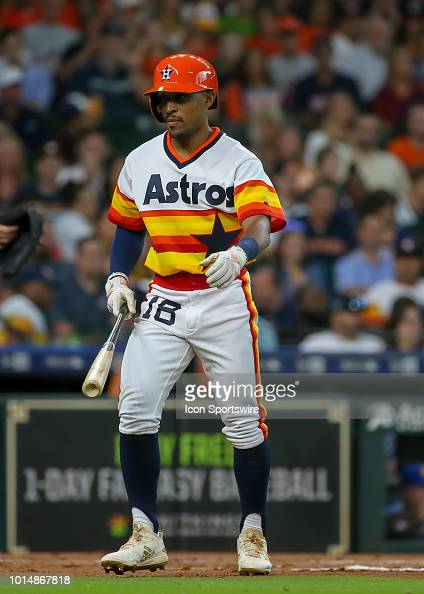info for cca3f 8f285 Houston Astros left fielder Tony Kemp sports a 1970s uniform ...