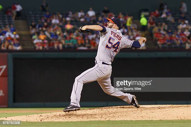 Houston Astros pitcher Mike Fiers [9201] come in relief during the MLB game between the Houston Astros and the Texas Rangers Texas defeats Houston...