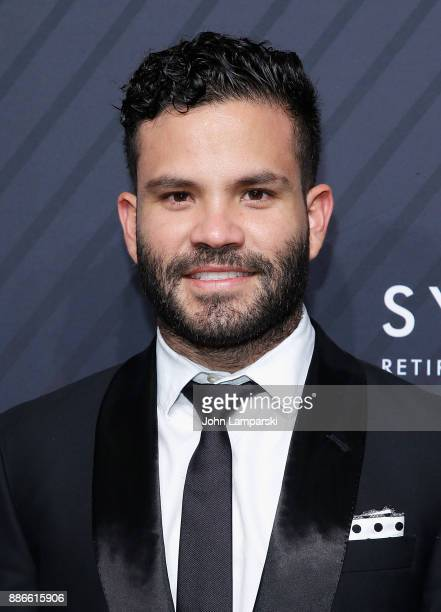 Houston Astros Sportsperson of the Year Jose Altuve attend 2017 Sports Illustrated Sportsperson of the Year Awards at Barclays Center on December 5...