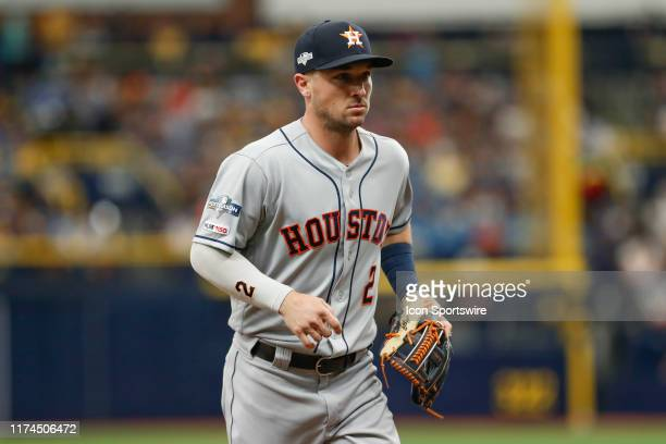Houston Astros third baseman Alex Bregman during Game 3 of the ALDS between the Houston Astros and Tampa Bay Rays on October 7, 2019 at Tropicana...