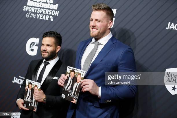 Houston AstrosSportsperson of the Year Jose Altuve and Houston Texans Sportsperson of the Year JJ Watt attend 2017 Sports Illustrated Sportsperson of...