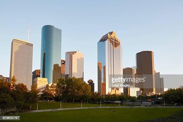 Houston city skyline Houston USA