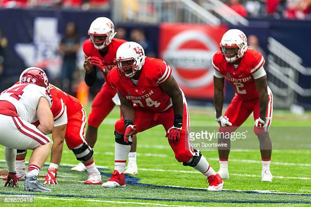 Houston Cougars offensive lineman Josh Jones on the field during the second half of action during a Advocare Texas Kickoff football game between the...