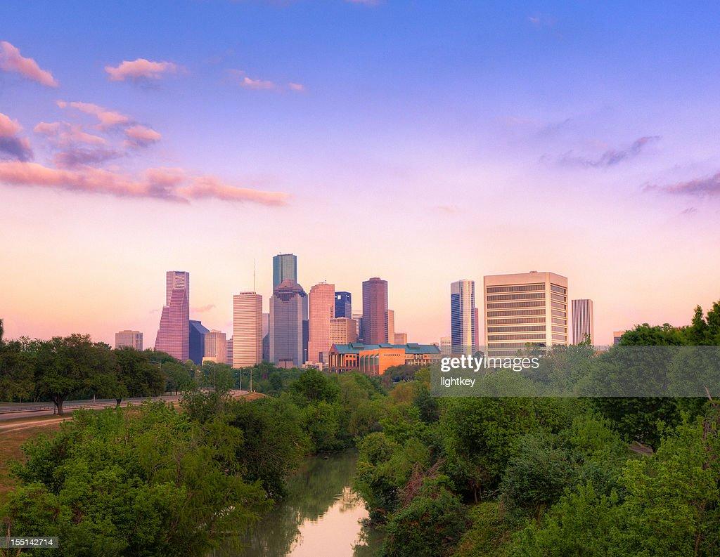 Houston downtown : Stock Photo