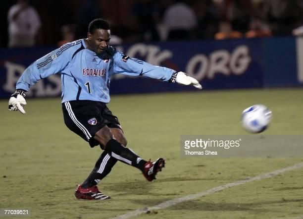 Houston Dynamo against FC Dallas goal keeper Shaka Hislop in US Open Lamar Hunt Cup at Robertson Stadium in Houston Texas on August 23 2006 Houston...