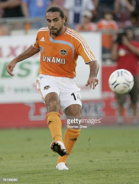 Houston Dynamo Dwayne DeRosario against Pachucha CF in the Semifinal Series of the CONCACAF Champions Cup at Robertson Stadium on March 15 2007 The...