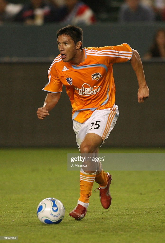 Houston Dynamo's Brian Ching in action against Chivas USA. Chivas takes the regular season Western Conference title following a scoreless draw with Dynamo at The Home Depot Center on October 20, 2007 in Carson.