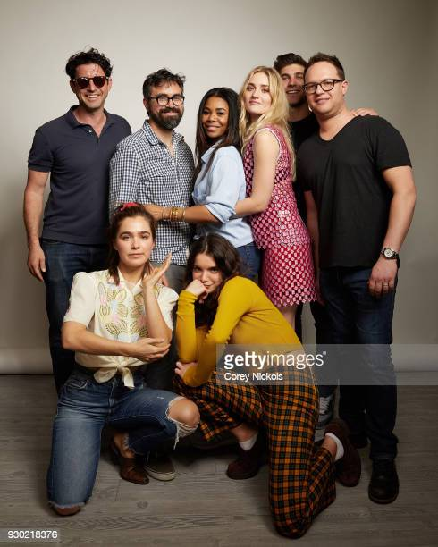Houston King Hayley Lu Richardson Andrew Bujalski Dylan Gelula Regina Hall AJ Michalka David Bernon and Sam Slater from the film Support The Girls...