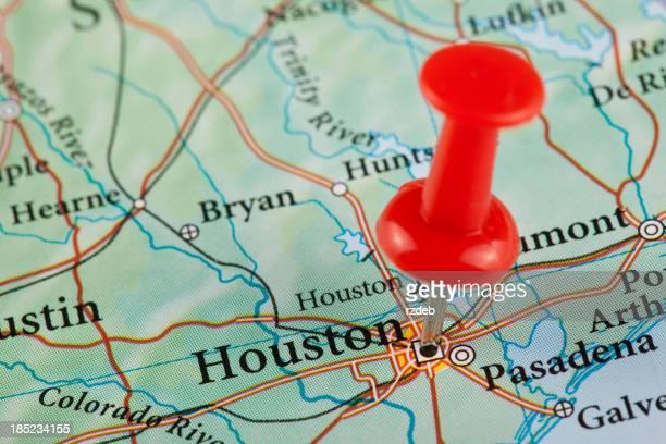 Houston Map, Texas - USA
