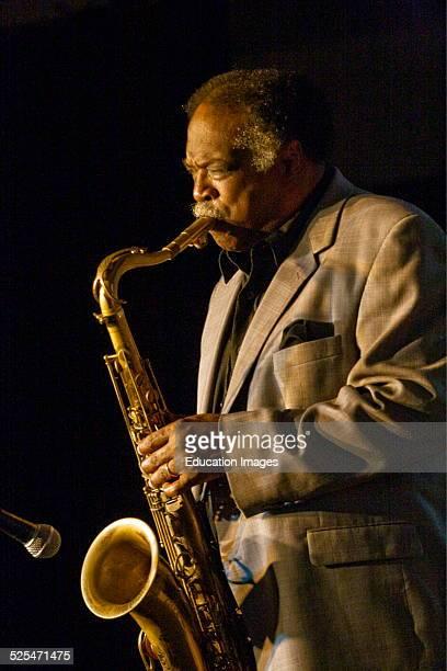 Houston Person Plays Saxophone For The Atsuko Hashimoto Trio At The 50Th Anniversary Monterey Jazz Festival, Monterey, California .
