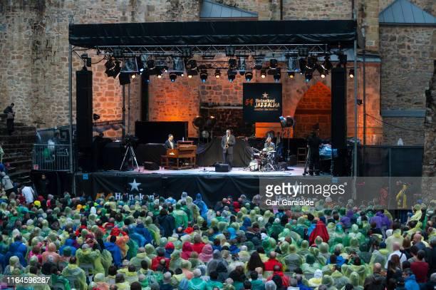 Houston Person trio performs onstage during 54th edition of Heineken Jazzaldia Festival on July 27, 2019 in San Sebastian, Spain.