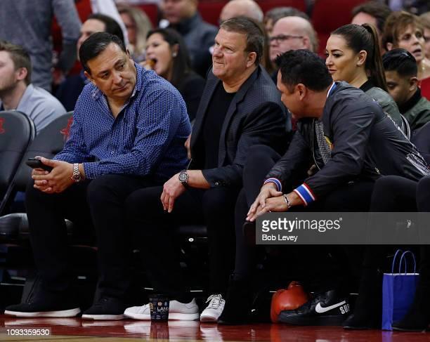 Houston Police Chief Art Acevedo , Tilman Fertitta and Oscar De La Hoya at Toyota Center on January 11, 2019 in Houston, Texas. NOTE TO USER: User...