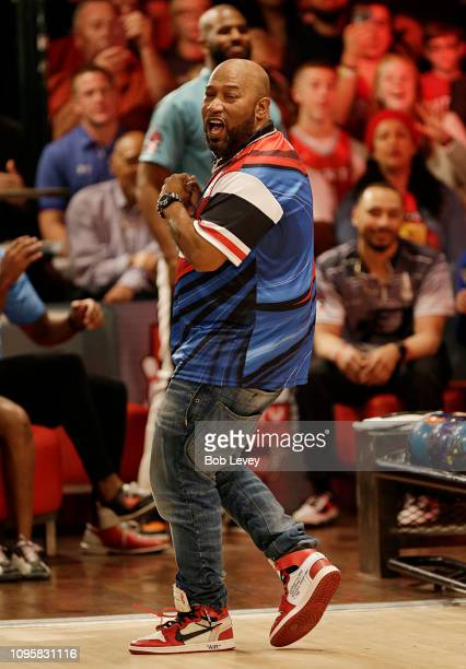 Houston rapper Bun B bowls during the 2019 State Farm Chris Paul PBA Celebrity Invitational on January 17 2019 in Houston Texas