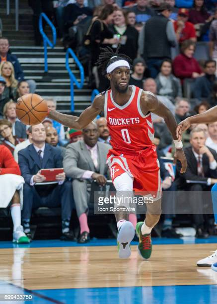 Houston Rockets Guard Briante Weber making a pass versus Oklahoma City Thunder at the Chesapeake Energy Arena Oklahoma City OK