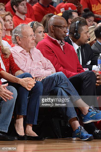 Houston Rockets owner Leslie Alexander attends Game Seven of the Western Conference Semifinals against the Los Angeles Clippers during the 2015 NBA...