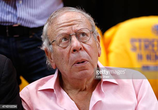 Houston Rockets owner Leslie Alexander looks on during game two of the Western Conference Finals of the 2015 NBA PLayoffs between the Houston Rockets...