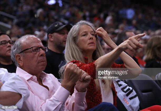 Houston Rockets owner Leslie Alexander looks on during Game Two of the NBA Western Conference SemiFinals against the San Antonio Spurs at ATT Center...