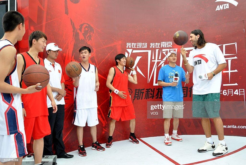 NBA Player Luis Scola Visits Shanghai Expo