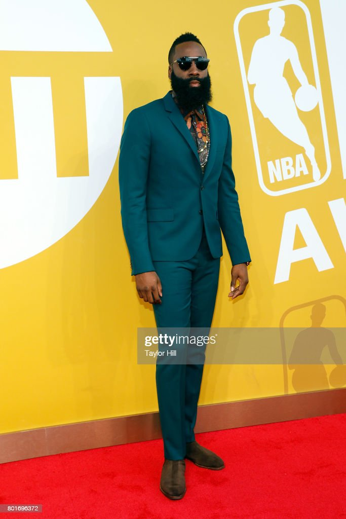 Houston Rockets point guard James Harden attends the 2017 NBA Awards at Basketball City - Pier 36 - South Street on June 26, 2017 in New York City.