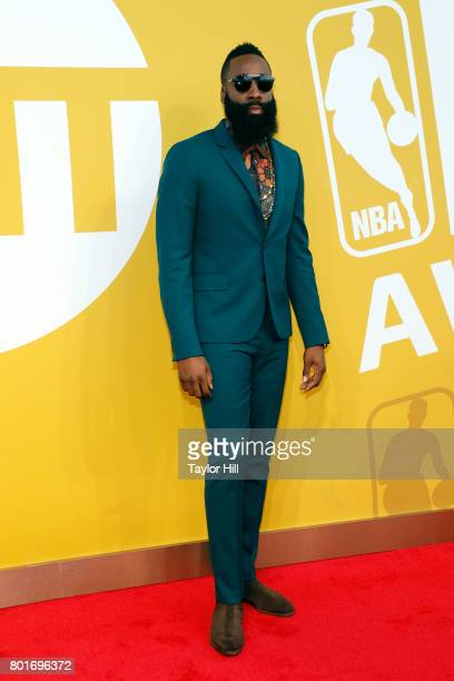 Houston Rockets point guard James Harden attends the 2017 NBA Awards at Basketball City Pier 36 South Street on June 26 2017 in New York City