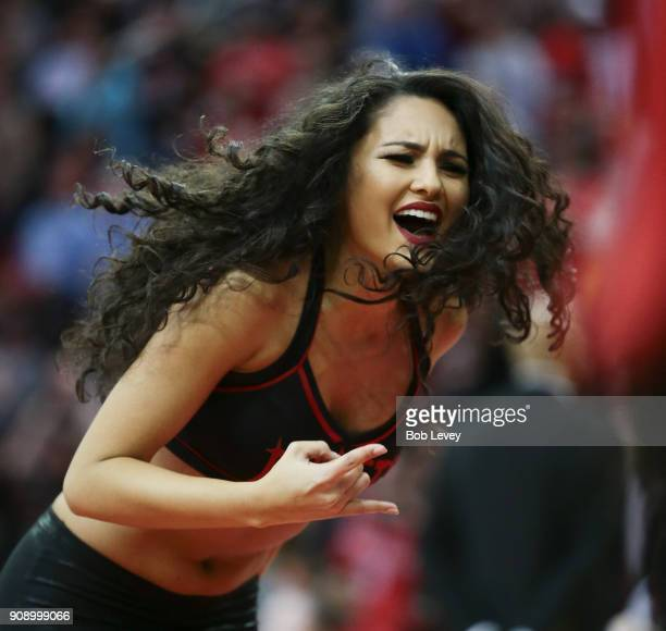 Houston Rockets Power Dancers perform at Toyota Center on January 22 2018 in Houston Texas NOTE TO USER User expressly acknowledges and agrees that...