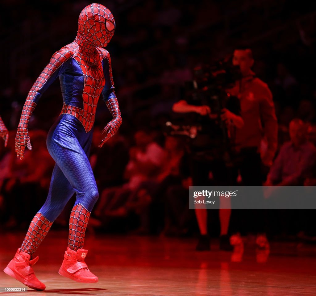 Portland Trail Blazers Dancers: Houston Rockets Power Dancers Perform In Spiderman Outfits