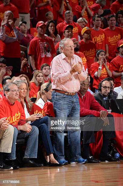 Houston Rockets powner Leslie Alexander attends Game Seven of the Western Conference Semifinals between the Houston Rockets and the Los Angeles...