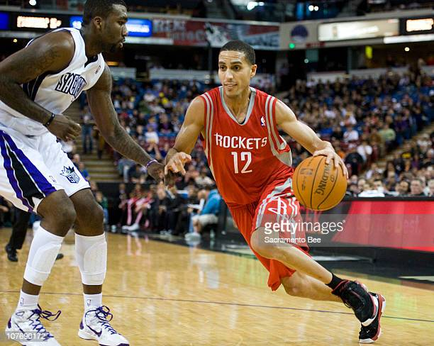 Houston Rockets shooting guard Kevin Martin drives past Sacramento Kings small forward Donte Greene in the second half at ARCO Arena Sunday December...