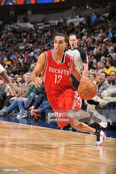 Houston Rockets shooting guard Kevin Martin drives to the basket during the game against the Denver Nuggets on February 7 2011 at the Pepsi Center in...