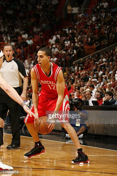 Houston Rockets shooting guard Kevin Martin protects the ball during the game against the Miami Heat on March 27 2011 at American Airlines Arena in...