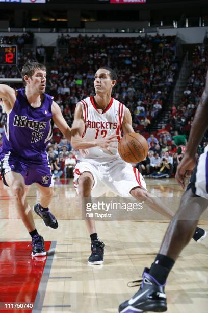 Houston Rockets shooting guard Kevin Martin protects the ball during the game against the Sacramento Kings on April 5 2011 at the Toyota Center in...