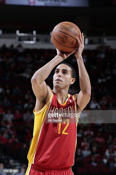 Houston Rockets shooting guard Kevin Martin shoots a free throw during the game against the Denver Nuggets on February 14 2011 at the Toyota Center...