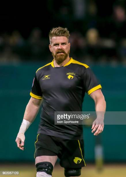 Houston SaberCats eightman Matt Trouville walks onto the pitch during the opening rugby match between the Seattle Saracens and Houston SaberCats on...