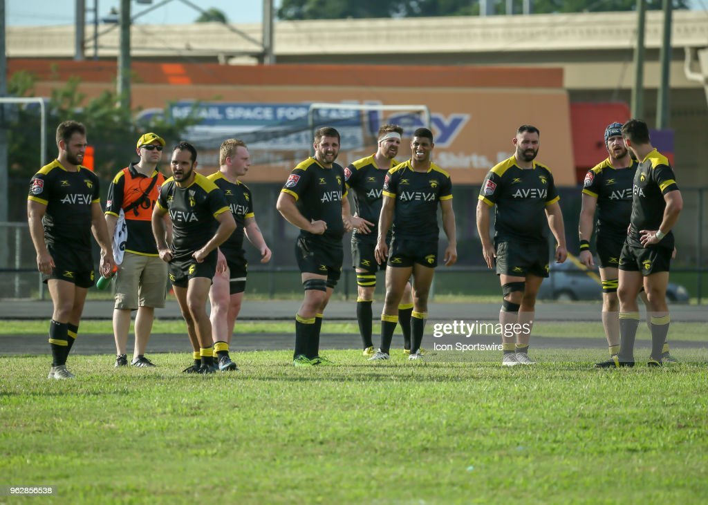 Houston Sabercats Wait For The Scrum During Major League Rugby Match Between Utah Warriors