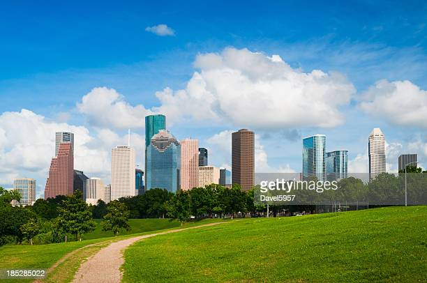 Houston skyline and park