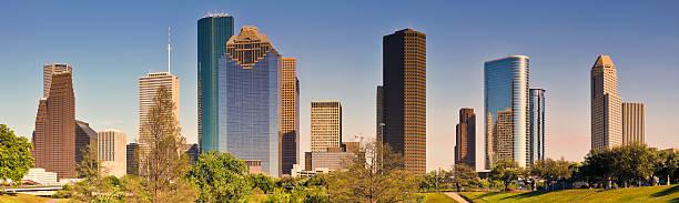 Houston Skyline Downtown Skyscraper Seen From Bayou Park Wall Art