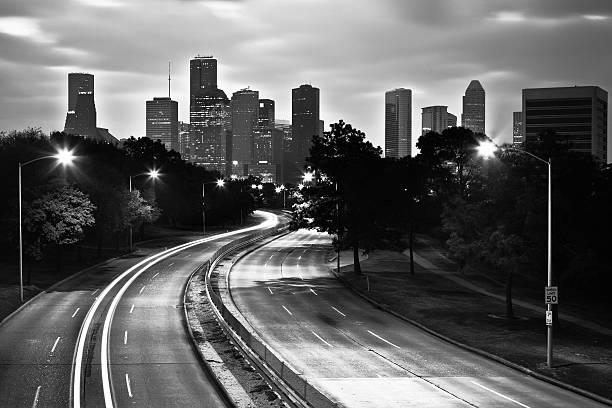 Houston, Skyline In Black And White Wall Art