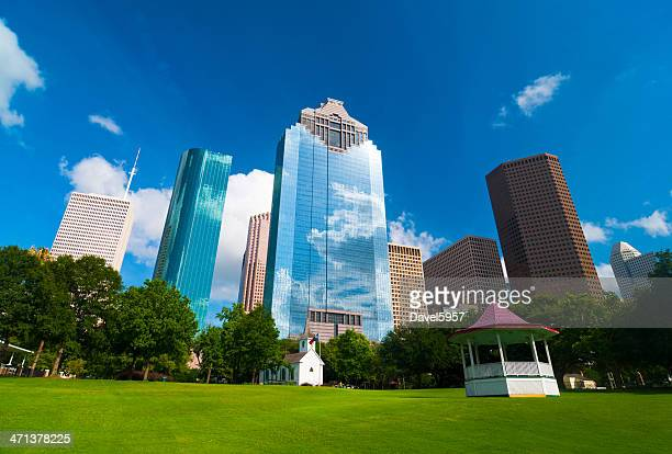 Houston skyscrapers and Historic Park