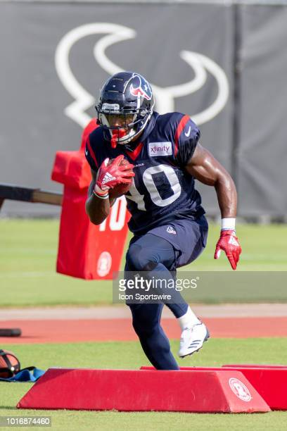 Houston Texan RB Lavon Coleman during Houston Texans Training Camp August 14 at Houston Methodist Training Center in Houston Texas