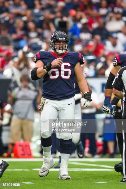 Houston Texans center Nick Martin looks to the sideline during the football game between the Indianapolis Colts and the Houston Texans on November 5...