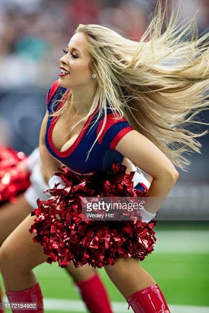 Houston Texans cheerleader performs during a game against the Carolina Panthers at NRG Stadium on September 29 2019 in Houston Texas