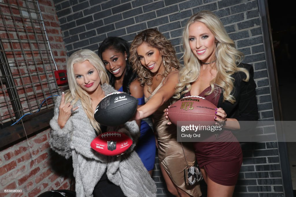 Houston Texans cheerleaders Ainsley, Antonieta, Morgan and Emily attend the Thuzio Executive Club and Rosenhaus Sports Representation Party at Clutch Bar during Super Bowl Weekend, on February 4, 2017 in Houston, TX.