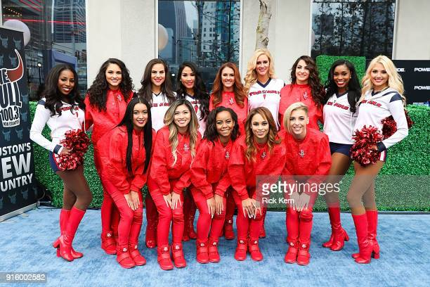 Houston Texans Cheerleaders and Houston Rockets Power Dancers attend the Houston Sports Awards on February 8 2018 in Houston Texas