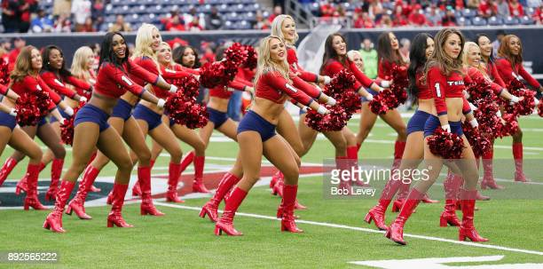 Houston Texans cheerleaders perform at NRG Stadium on December 10 2017 in Houston Texas