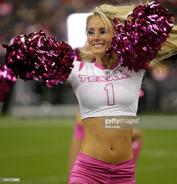 Houston Texans cheerleaders perform at Reliant Stadium during a football game between the Green Bay Packers and the Houston Texans on October 14 2012...