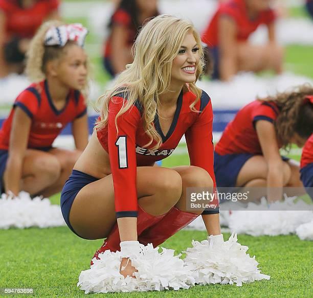 Houston Texans cheerleaders perform during a preseason NFL game at NRG Stadium on August 20 2016 in Houston Texas