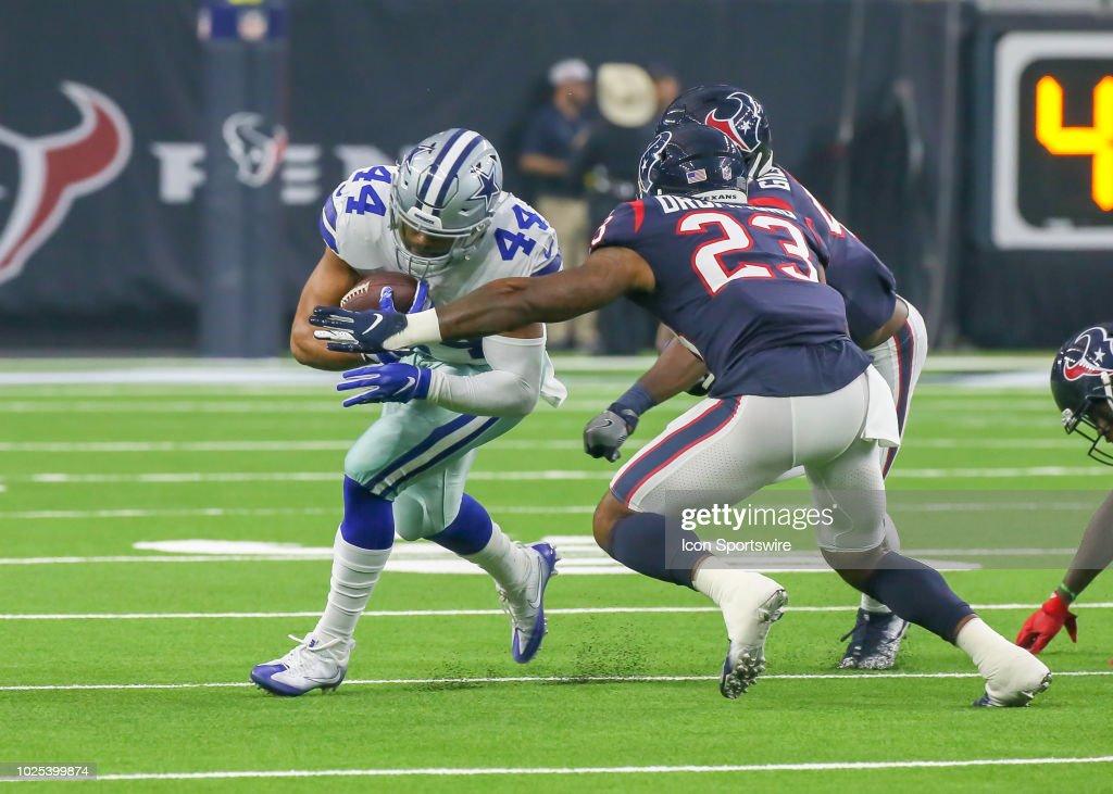 6699fce8 Houston Texans defensive back Kurtis Drummond tackles Dallas Cowboys ...